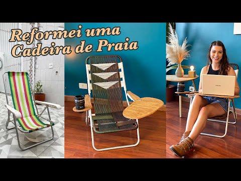 DIY Cadeira de Praia! Peguei uma cadeira do Lixão da Praia e Reformei!