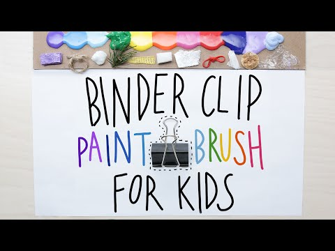 Binder Clip Paintbrush For Kids