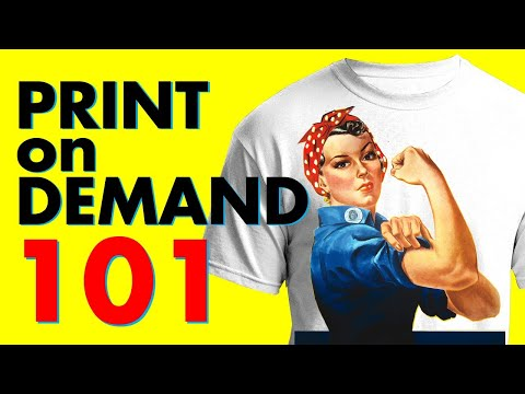Print on Demand 101: Complete Tutorial for BEGINNERS (Redbubble, Teepublic, Merch by Amazon & More)