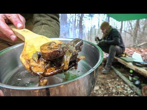 Bushcraft - Deer Liver   Wild Food Cooking