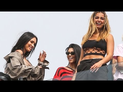 Kourtney Kardashian and Megan Fox HANG OUT With Addison Rae at Machine Gun Kelly's Surprise Concert