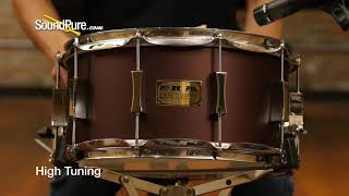Pork Pie 7x14 Maple Snare Drum Root Beer Metallic Flat Quick 'n' Dirty