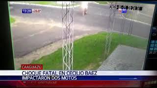 Fatal accidente tras choque entre dos motocicletas
