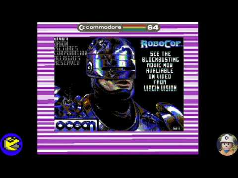 Robocop loader, Commodore 64 - Real por S-Video