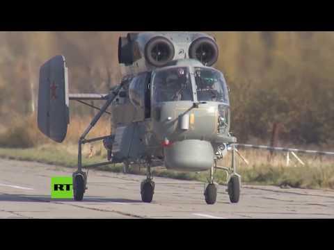 Primer vuelo del nuevo helicóptero militar ruso Ka27M en Kaliningrado