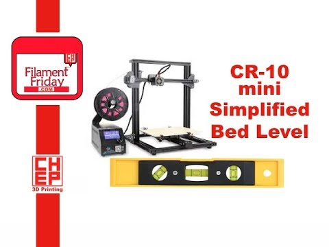 CR-10 Mini 3D Printer Bed Leveling Assistant G-Code