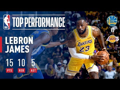 LeBron Fills Up the Stat Sheet VS Warriors (15p, 10r, 5a) In Just 18 Minutes! | 2018 NBA Preseason