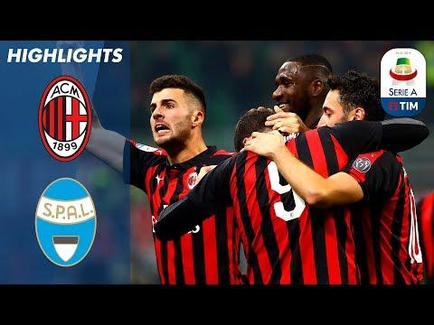 اهداف مباراة ميلان وسبال 2-1 - البطولة الايطالية