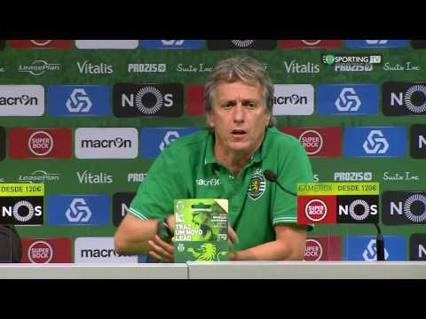 Conferência Jorge Jesus - Sporting CP X Estoril - 12 de setembro de 2016