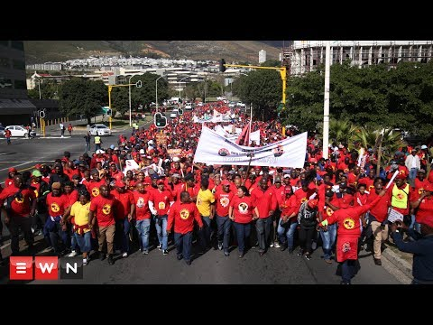 The Water Crisis Coalition and SAFTU march in CT