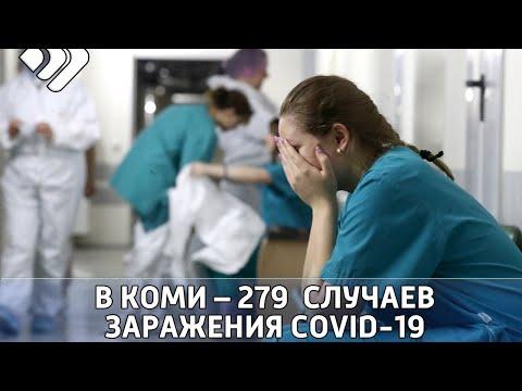 В Коми   279 новых случаев заражения ковид 19 и восемь смертей