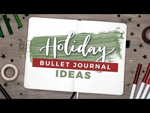 Holiday Bullet Journal Spread Ideas! | Christmas Planning 2018