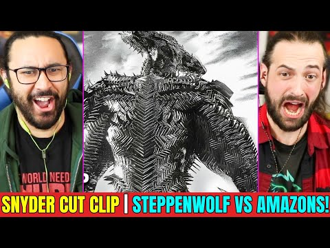 Snyder Cut Clip   STEPPENWOLF VS AMAZONS   REACTION!! (Zack Snyder s Justice League    DCEU)