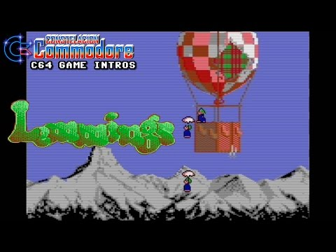 C64 Game Intro: Lemmings (DMA Design/Psygnosis,1993)
