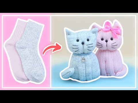 Милый Котенок из Одинокого Носка своими руками — Cute Kitten from Lone Sock — DIY NataliDoma