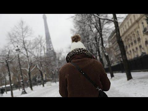Alemania, Francia y Bélgica experimentan nevadas durante el fin de semana