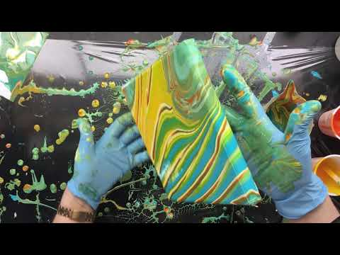 ( 840 ) 2 acrylic pours