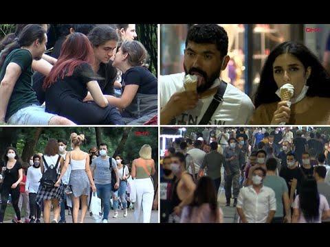 Görüntüler İstanbul'dan... Sosyal mesafe unutuldu, eski günlere dönüldü