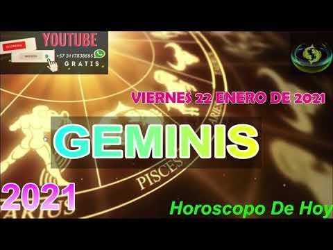 Horoscopo de hoy Geminis   Viernes 22 de Enero De 2021#horoscopodehoy