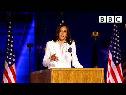 Kamala Harris speech • What this moment means for women 🇺🇸 US Election 🔴 @BBC News live – BBC