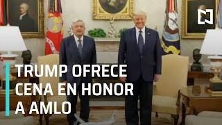 Donald Trump ofrece cena en honor de AMLO | Reunión de AMLO y Trump en la Casa Blanca - Las Noticias