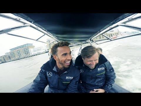 Lewis Hamilton Meets Sailing Legend Alex Thomson!