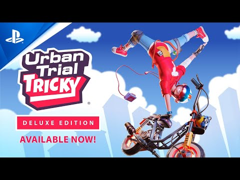 Urban Trial Tricky Deluxe Edition - Launch Trailer | PS4