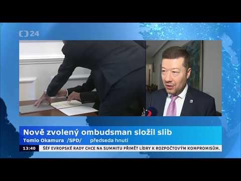 Tomio Okamura: Nový ombudsman.