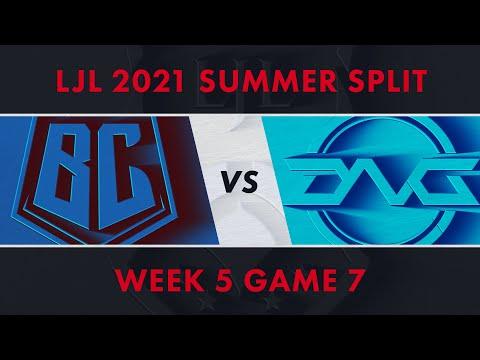 BC vs DFM|LJL 2021 Summer Split Week 5 Game 7