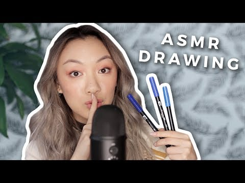ASMR DRAWING | Calligraphy + Sketching for Relaxing!