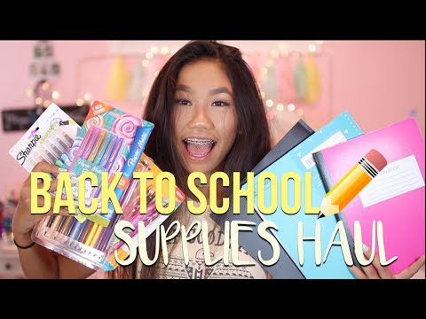 BACK TO SCHOOL SUPPLIES HAUL 2017!!