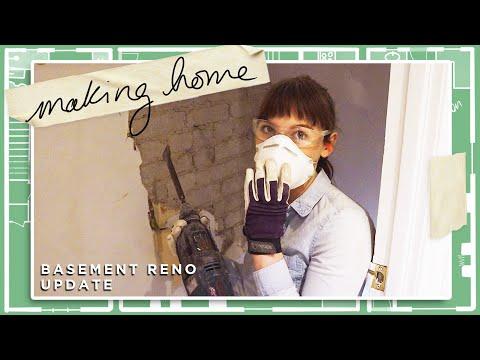 EXPOSING my brick wall | Making Home | EP3 | Basement Reno