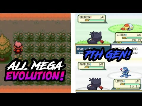 connectYoutube - POKEMON FIRE RED HACK! - WITH ALL MEGA EVOLUTIONS & 7TH GEN POKEMONS!! (Gameplay & Download)