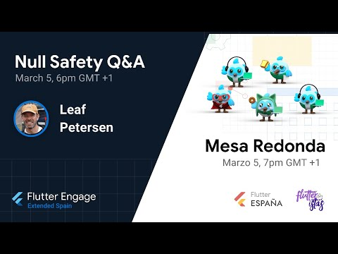 Flutter Engage Extended Spain - Null Safety Q&A - Mesa redonda