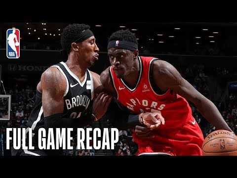 RAPTORS vs NETS | Pascal Siakam Goes For 28 &10 In Brooklyn | April 3, 2019