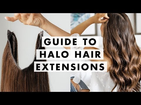 How to Wear Halo Hair Extensions | Luxy Hair