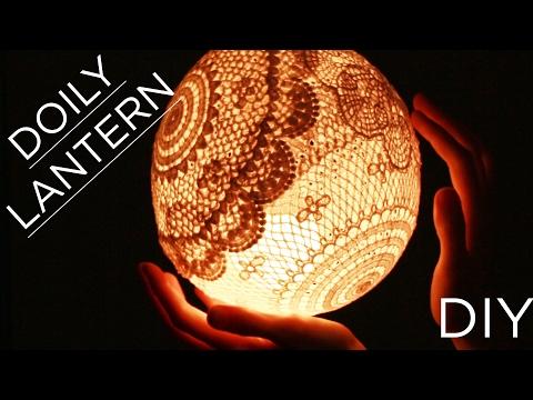 Crochet Doily Lantern