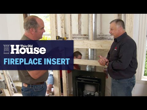 How to Install a New Gas Fireplace Insert   This Old House photo