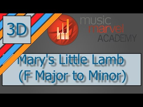Method 3D Mary's Little Lamb, F Major to Minor