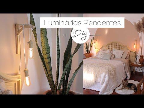 DIY Decorando meu Quarto 06   Luminárias Pendentes !