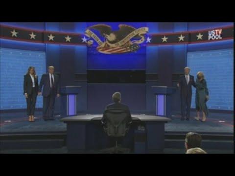 Intercambio de golpes y debate caótico entre Trump y Biden