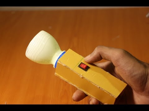 How To Make a Flashlight Using Cardboard - DIY Projects