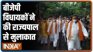 West Bengal: शुभेंदु अधिकारी की अगुवाई में 50 बीजेपी विधायकों ने की राज्यपाल से मुलाकात - INDIATV