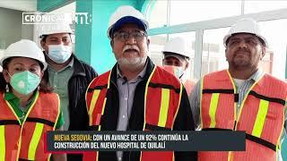 92% de avance en construcción del Hospital Bello Amanecer, Quilalí - Nicaragua