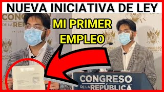 ULTIMA NOTICIA, DIPUTADO JUAN CARLOS RIVERA DE VICTORIA PRESENTA INICIATIVA DE LEY MI PRIMER EMPLEO