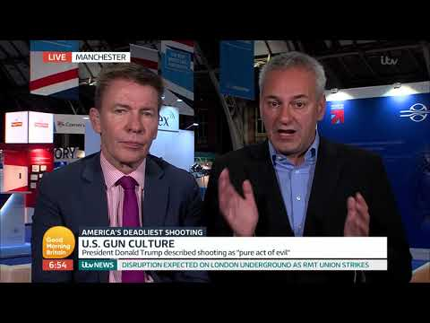 Kevin Maguire Becomes Passionate Over Gun-Control in the U.S. | Good Morning Britain