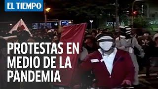 Jornada de protestas en medio de la pandemia