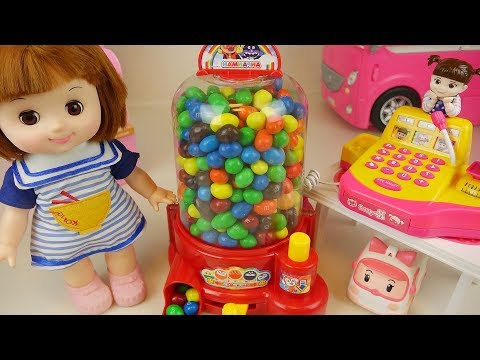 Baby Doli and Candy dispenser and baby doll mart toys play