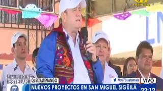 Giammattei se refirió a varios temas en su cuarto día de Gabinete Abierto en Quetzaltenngo