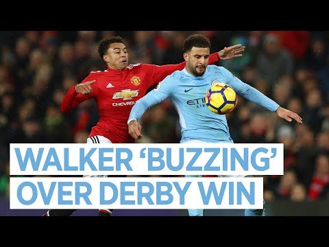 I'M BUZZING | Derby Day Reaction | Kyle Walker | Utd 1-2 City